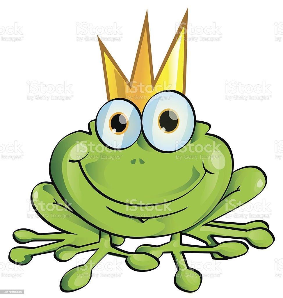 frog prince cartoon vector art illustration