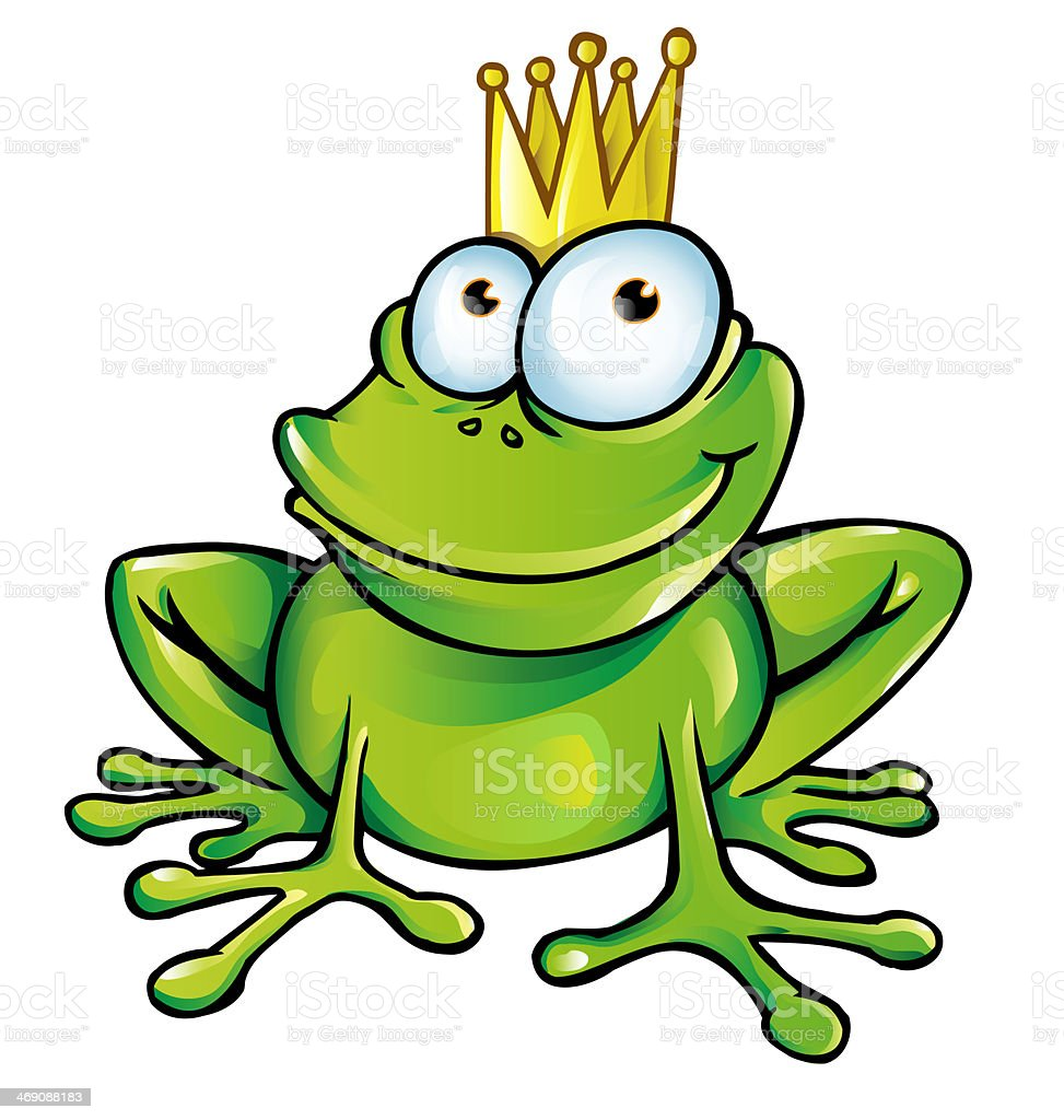 frog prince cartoon vector art illustration