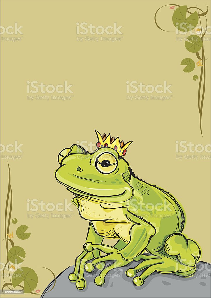 Frog Prince royalty-free stock vector art