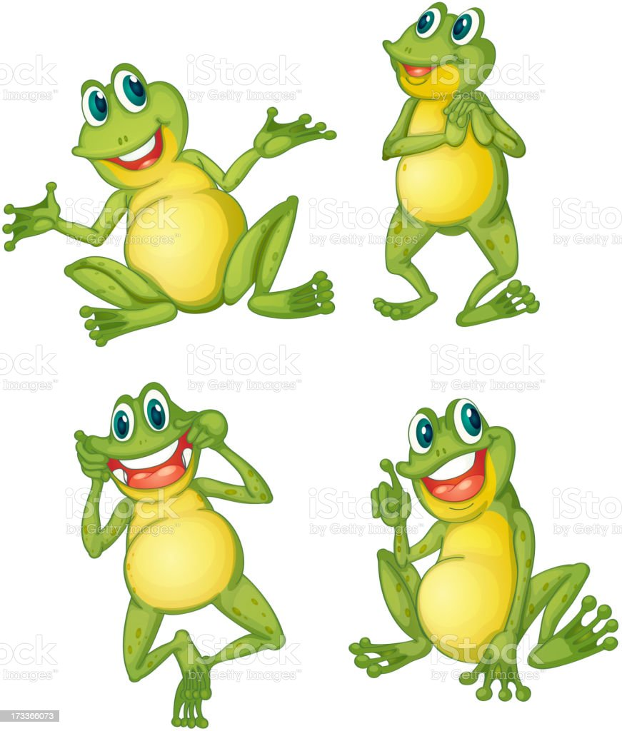 Frog series royalty-free stock vector art