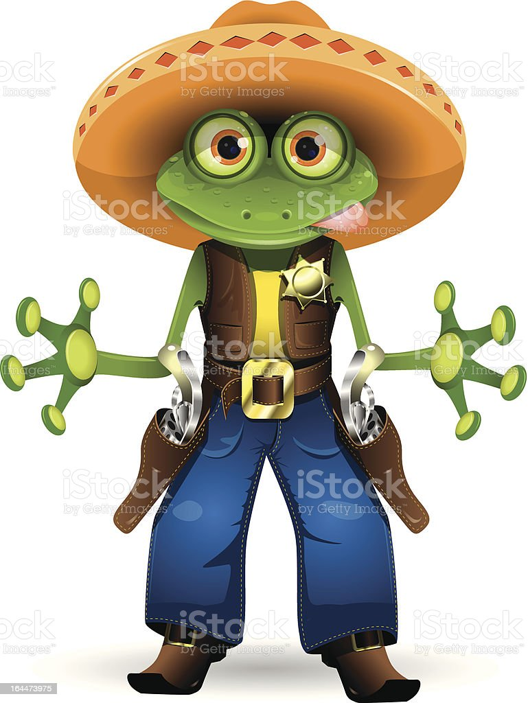 frog sheriff royalty-free stock vector art
