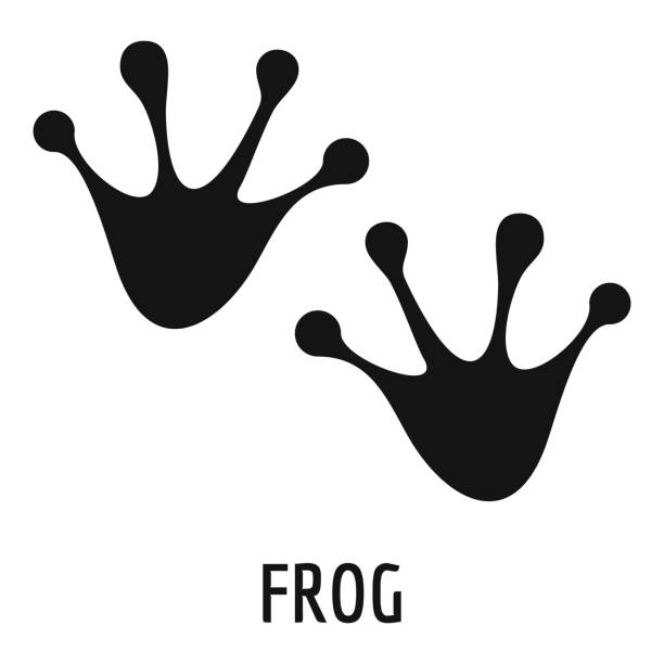 frog step icon, simple style. - jumping stock illustrations