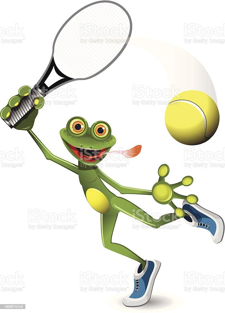 frog tennis player royalty-free stock vector art