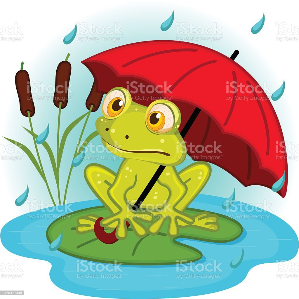 royalty free raining frogs clip art vector images illustrations rh istockphoto com clip art frog life cycle clip art frogs and bugs
