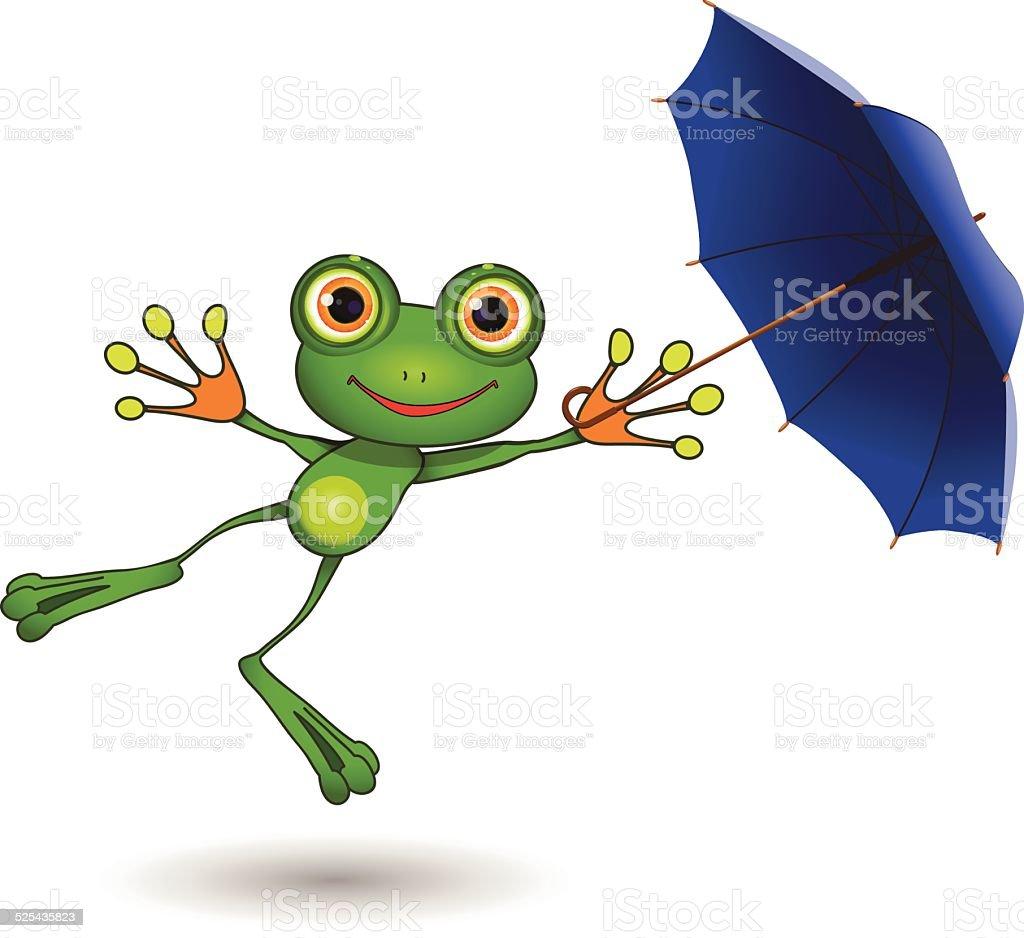 Coloriage Grenouille Avec Parapluie.Grenouille Avec Parapluie Vecteurs Libres De Droits Et Plus