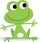 Nice little green frog. Contains clipping mask on eyes.