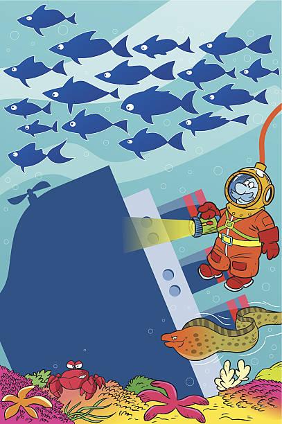 illustrazioni stock, clip art, cartoni animati e icone di tendenza di frogman - frogman