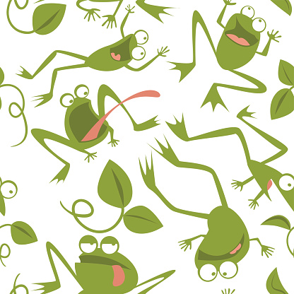 Frogs Seamless Patern