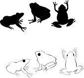 Frogs ,All elements are in separate layers color can be changed easily .