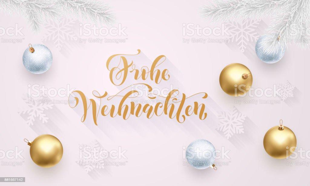 Frohe Wohnaccesoires Deutsch Frohe Weihnachten Goldene