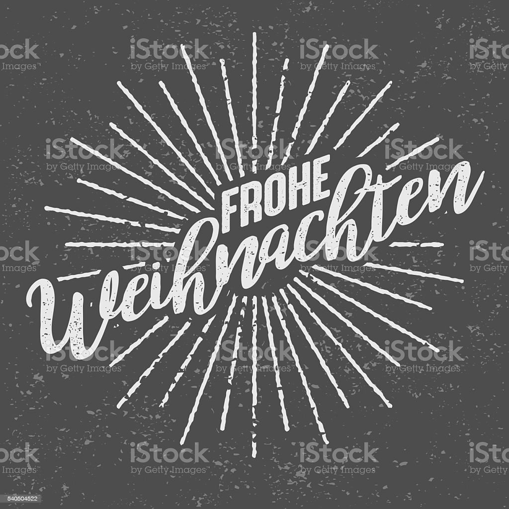 "Frohe Weihnachten немецкий ( ""Merry Christmas') винтажный принт - Векторная графика Векторная графика роялти-фри"