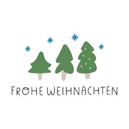 Frohe weihnachten it's mean Merry Christmas in German.
