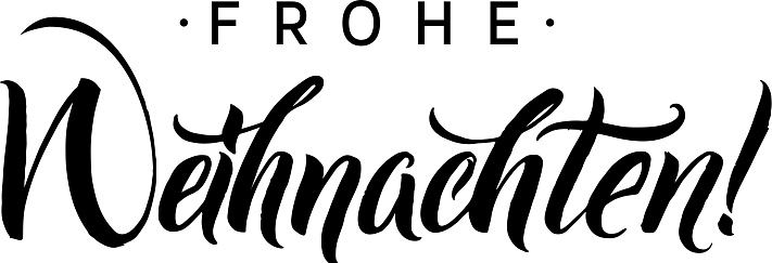 frohe weihnachten merry christmas calligraphy in german. Black Bedroom Furniture Sets. Home Design Ideas