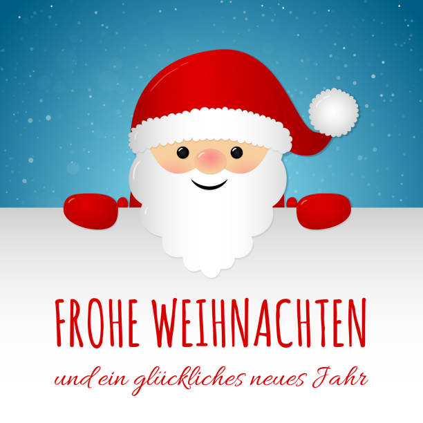 frohe weihnachten merry christmas in german concept of christmas card with decoration vector