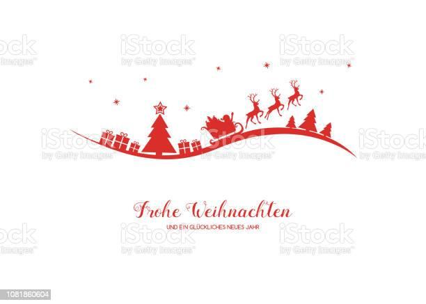 Фрохе Вейхнахтен В Переводе С Немецкого На Счастливое Рождество Вектор — стоковая векторная графика и другие изображения на тему Ёлочные игрушки