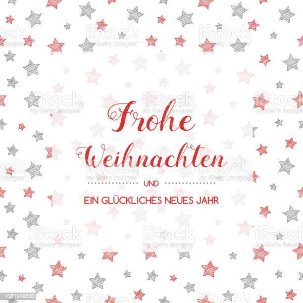 Frohe Weihnachten Merry Christmas Tercümedan Alman Için Vektör Stok Vektör Sanatı & Alman Kültürü'nin Daha Fazla Görseli
