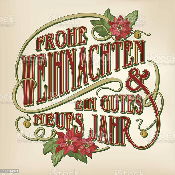 Frohe Weihnachten Und Эйн Gutes Neues Jahr — стоковая векторная графика и другие изображения на тему Ёлочные игрушки