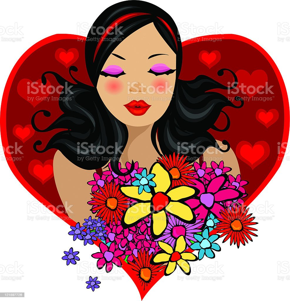 from a secret admirer royalty-free stock vector art