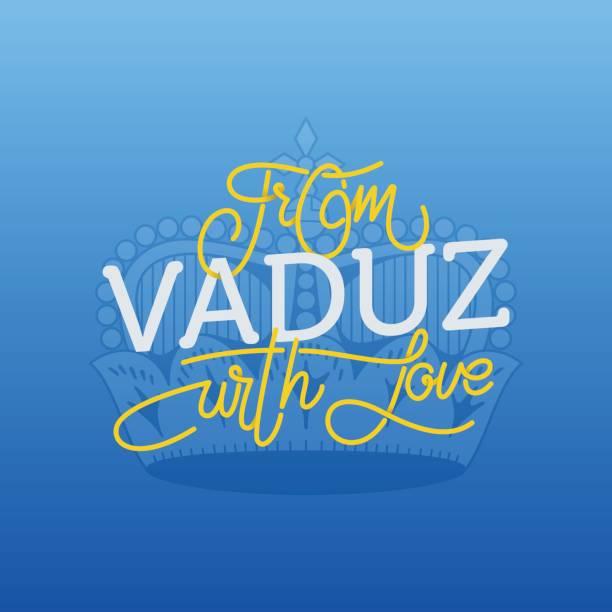 von vaduz mit liebe. schriftzug illustration für städtetourismus zu entwickeln. - madurai stock-grafiken, -clipart, -cartoons und -symbole