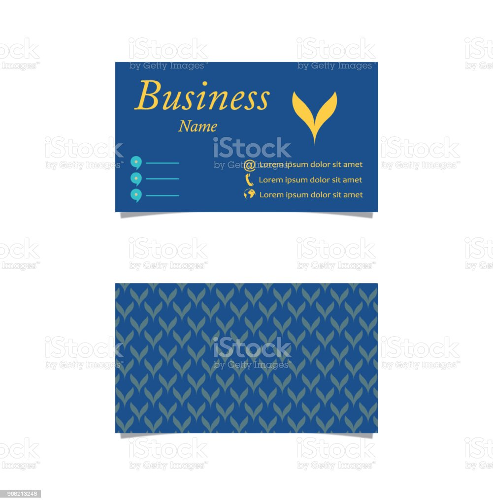 Front Back Blue Business Card Stock Vector Art & More Images of ...
