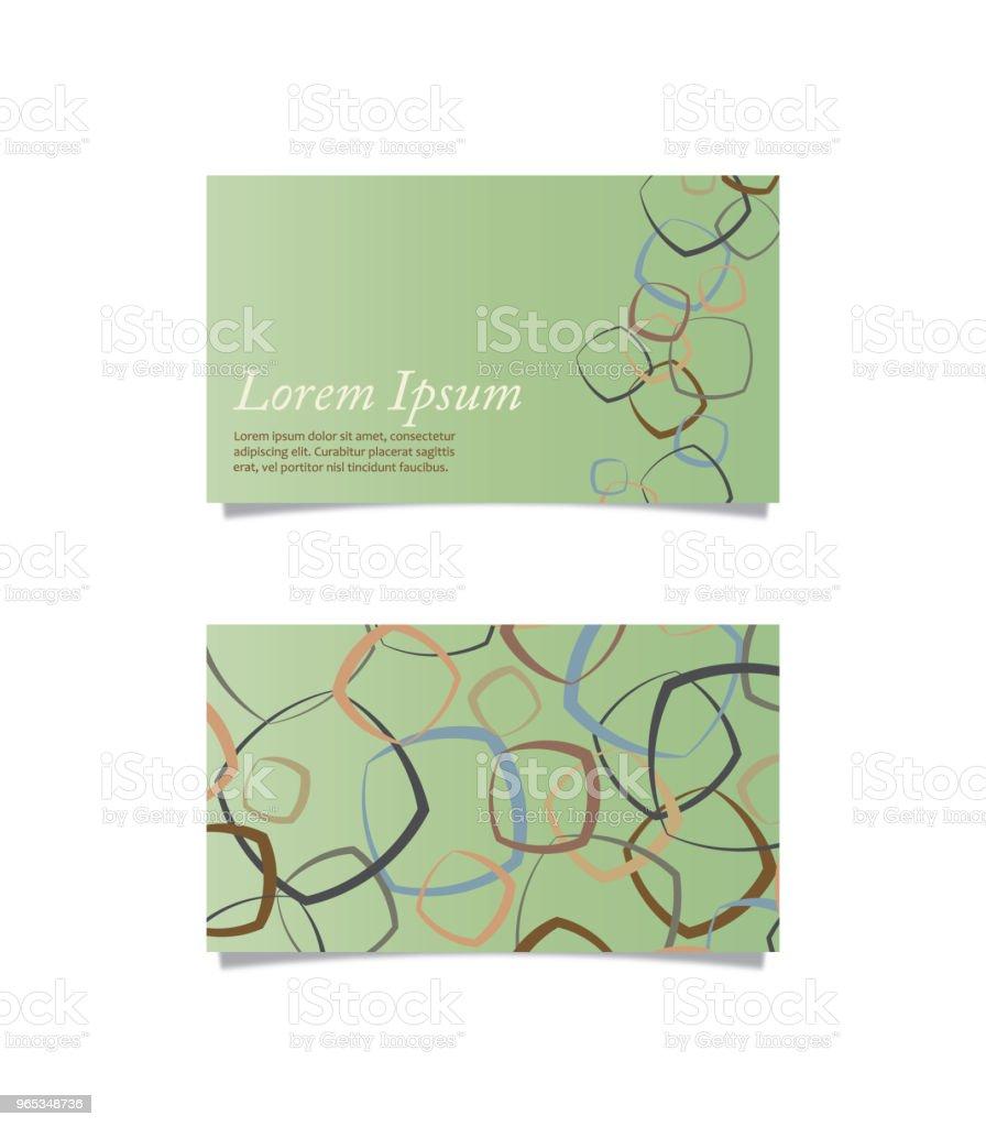 前背名片 - 免版稅卡片圖庫向量圖形