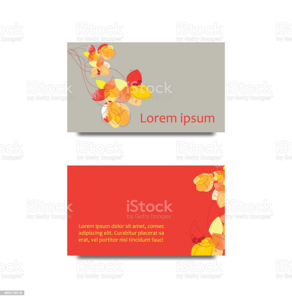 Front back business card royalty-free front back business card stock illustration - download image now