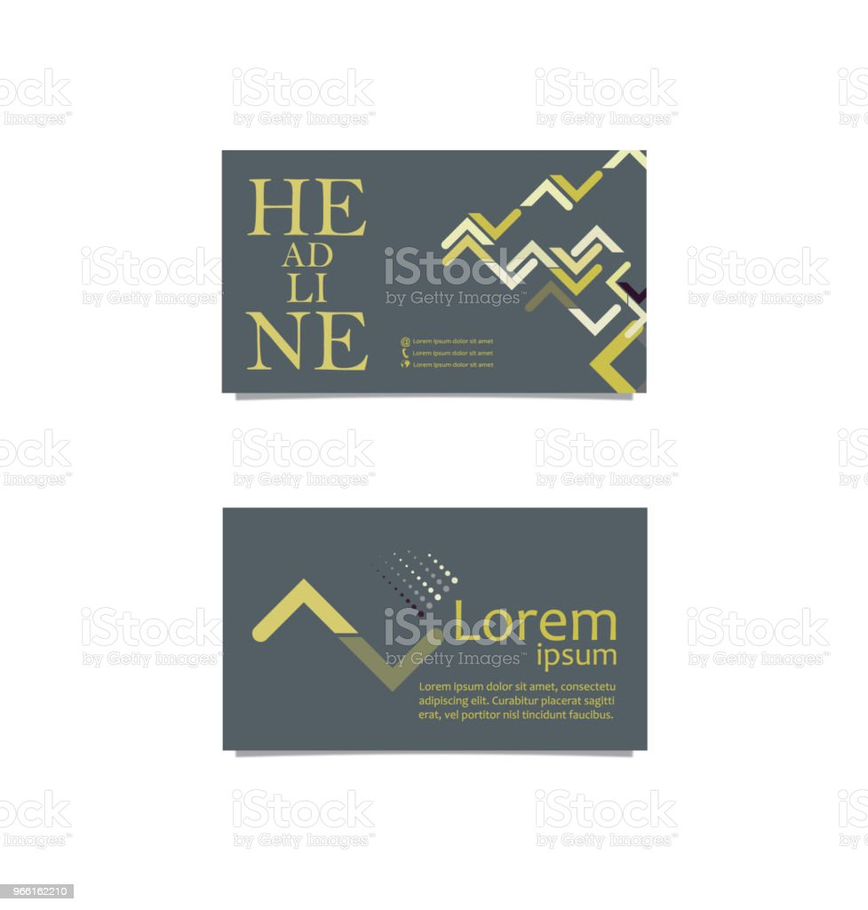 Front back business card - Royalty-free Abstract stock vector
