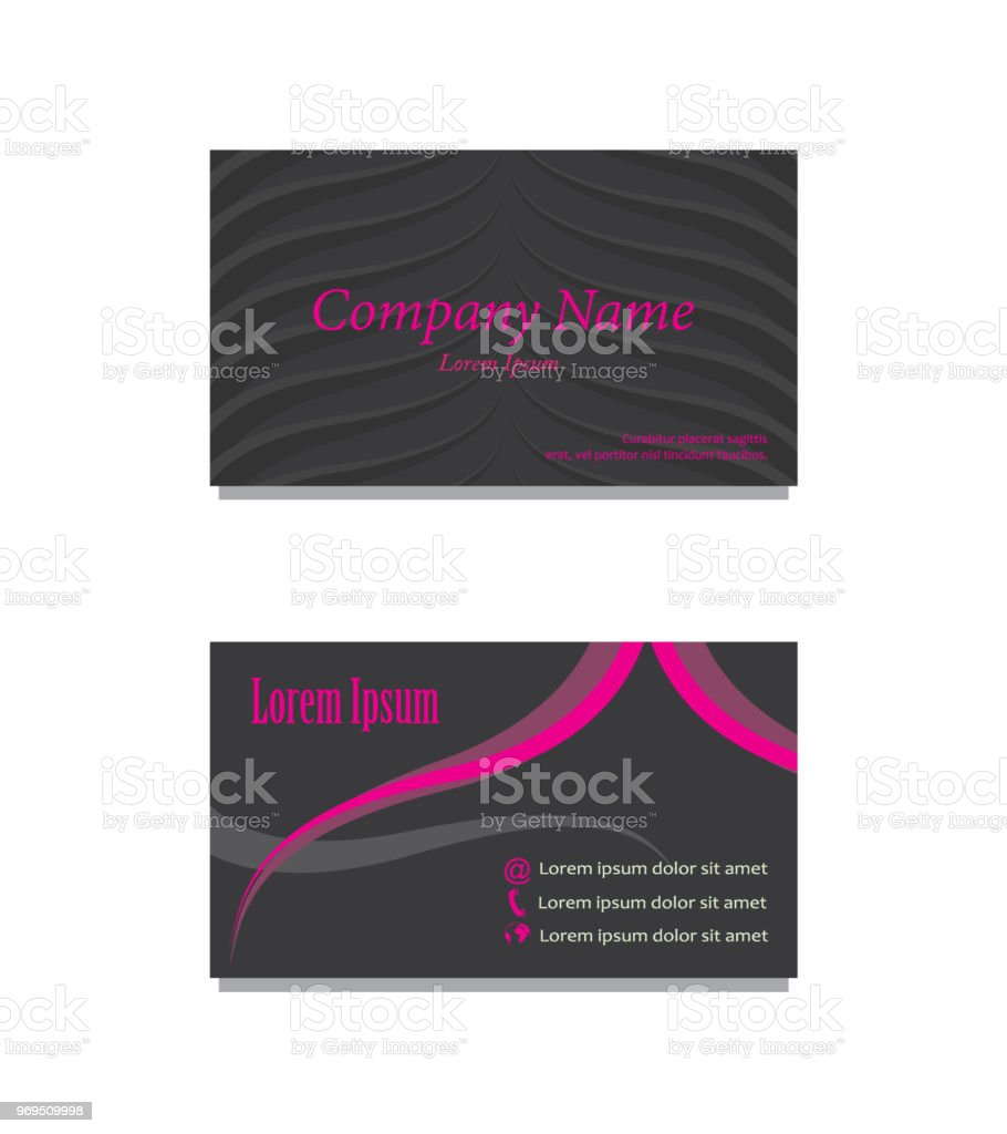 Front Back Business Card Stock Vector Art & More Images of Abstract ...