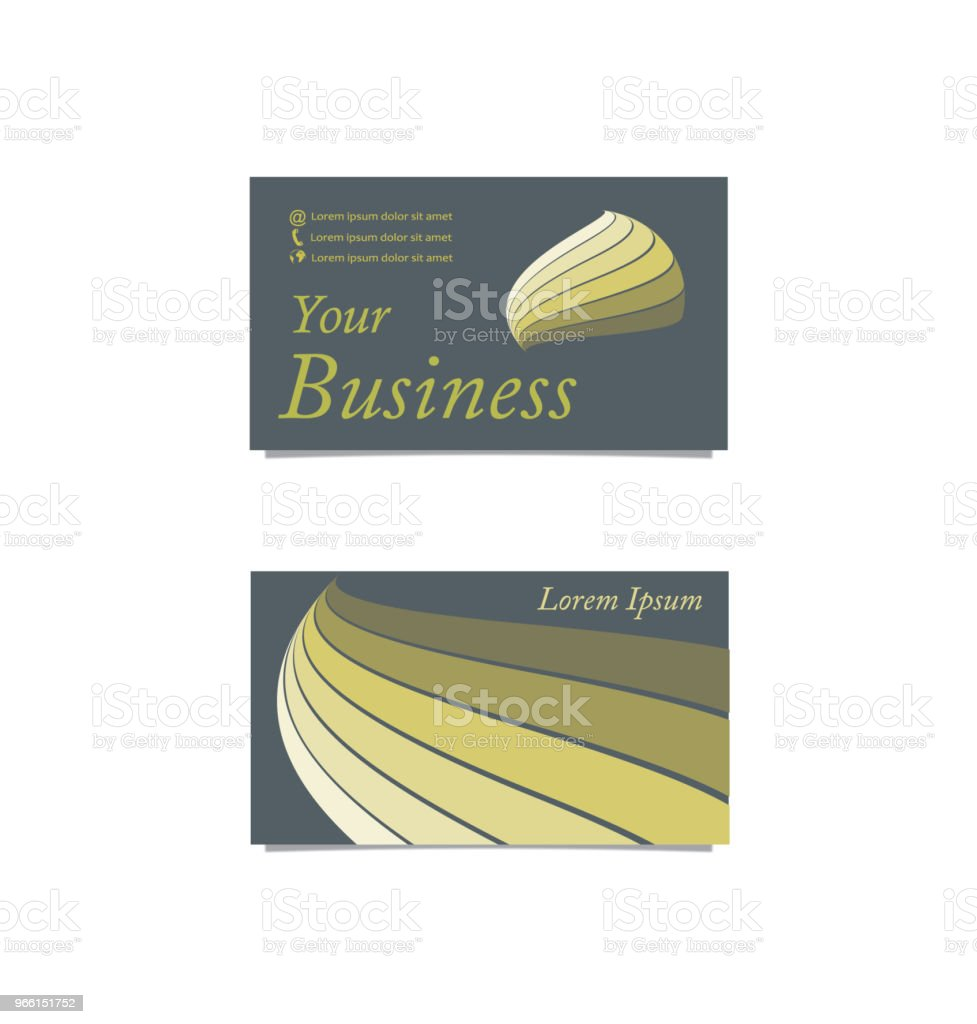 Front back gray business card - Royalty-free Abstract stock vector