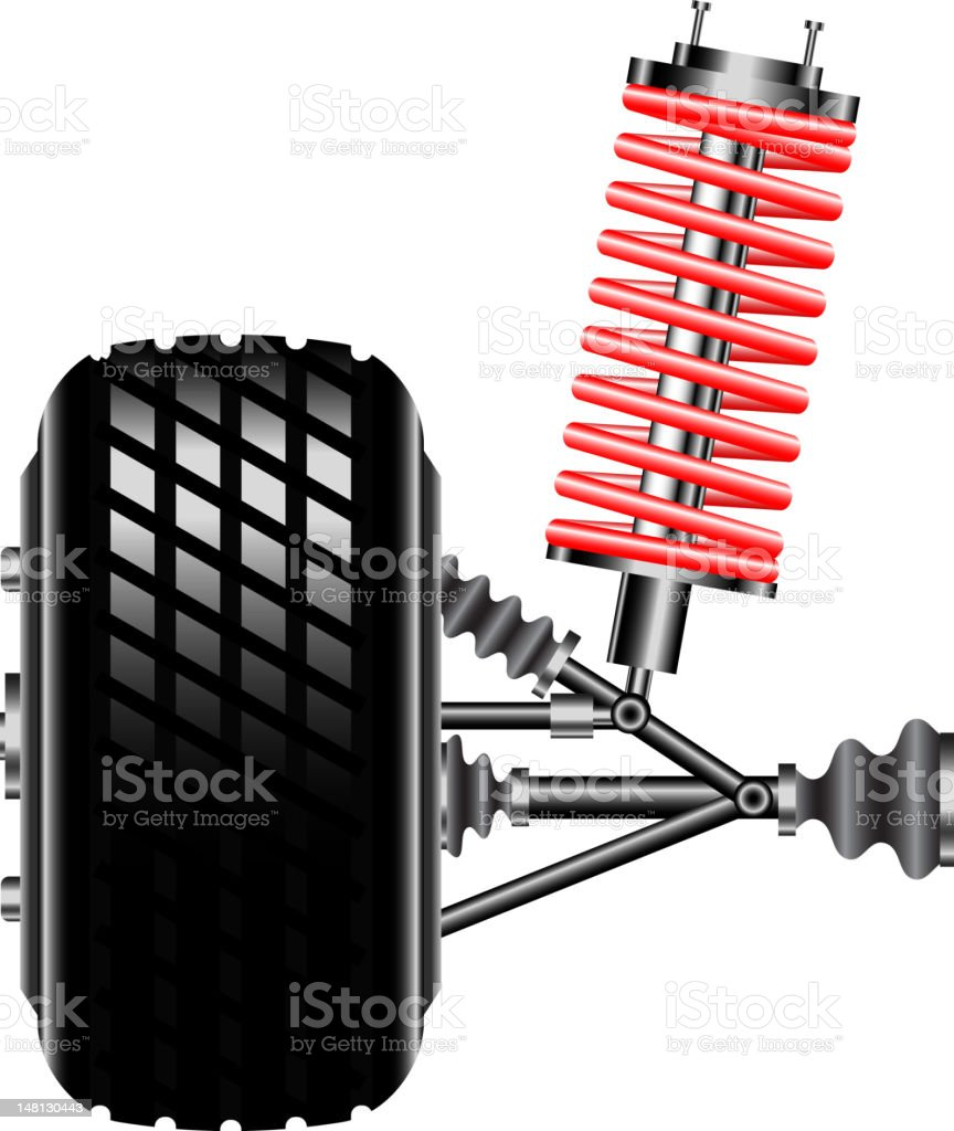 Front car suspension royalty-free stock vector art