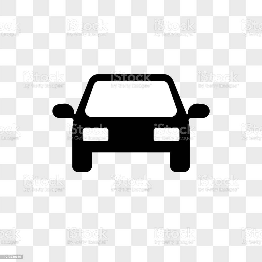 Front Car Vector Icon On Transparent Background Front Car