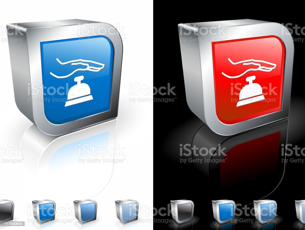Front desk 3D royalty free vector art royalty-free stock vector art