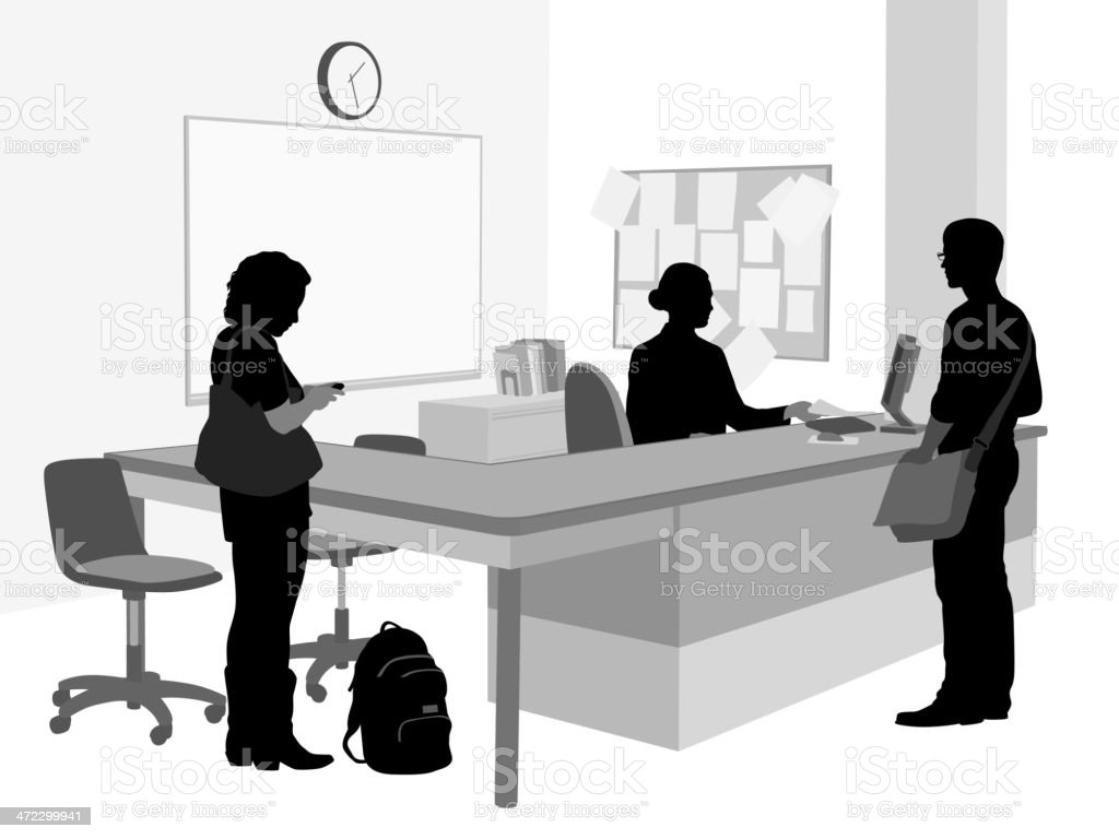 Front Desk royalty-free front desk stock vector art & more images of adult