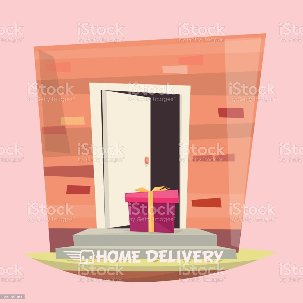 Front door delivery vector art illustration & Royalty Free Porch Clip Art Vector Images \u0026 Illustrations - iStock