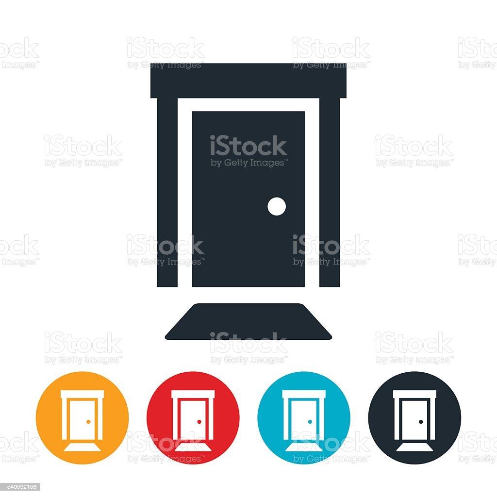 Front Door Icon vector art illustration