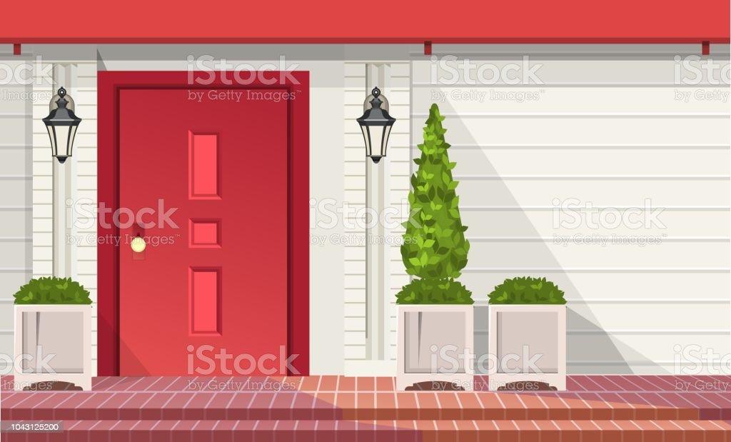 Ilustracion De Puertas De Entrada Principal Y Mas Banco De Imagenes - Puertas-entrada-principal