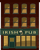 Front facade of old fashioned pub