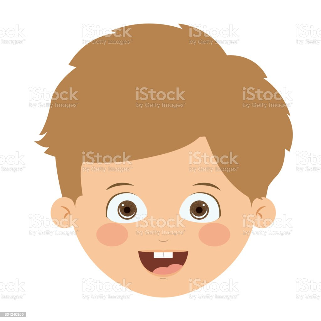 Front head boy isolated icon design royalty-free front head boy isolated icon design stock vector art & more images of adult