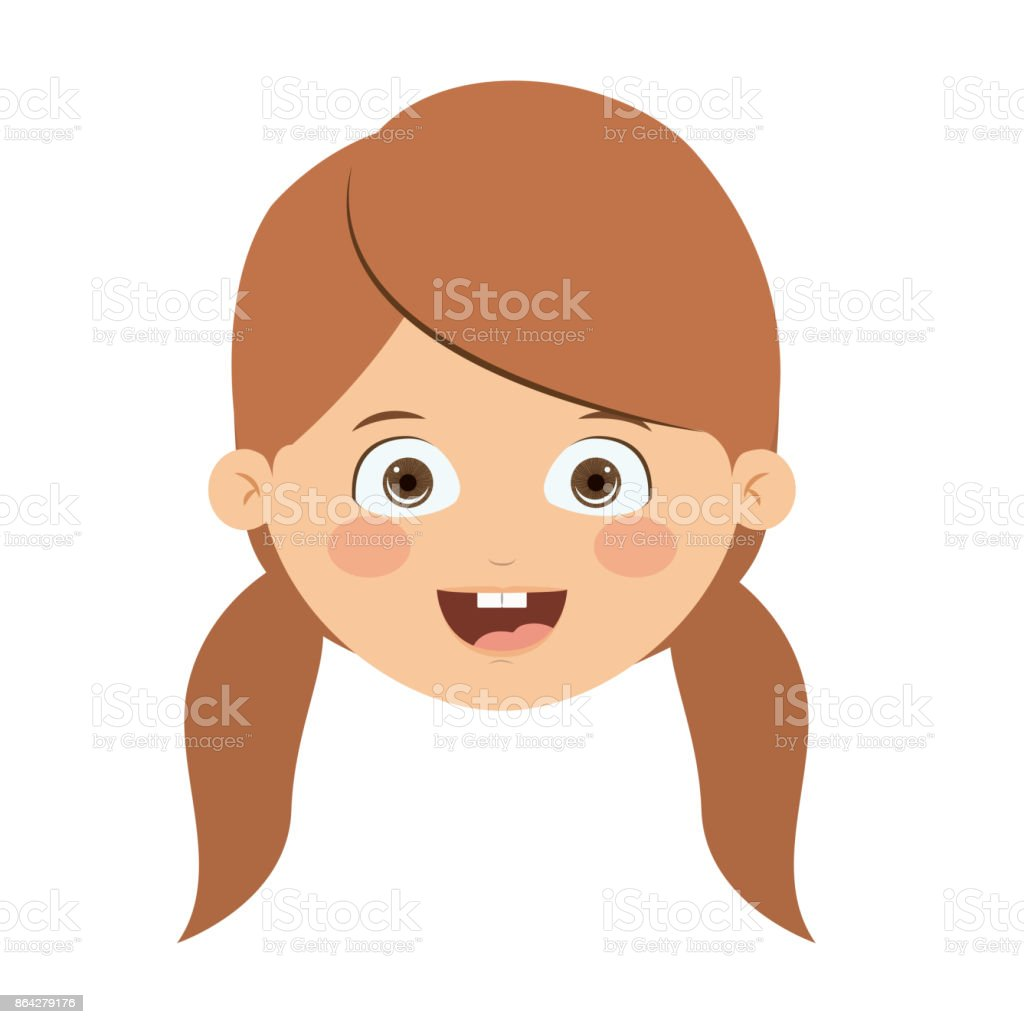 Front head girl isolated icon design royalty-free front head girl isolated icon design stock vector art & more images of adult