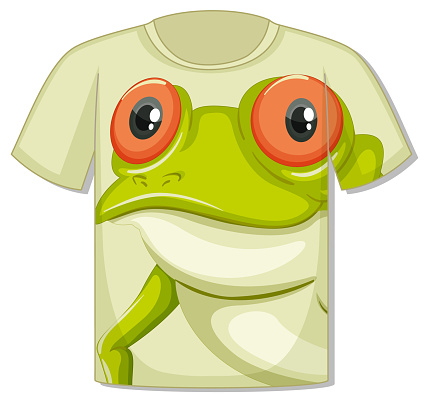 Front of t-shirt with frog face template