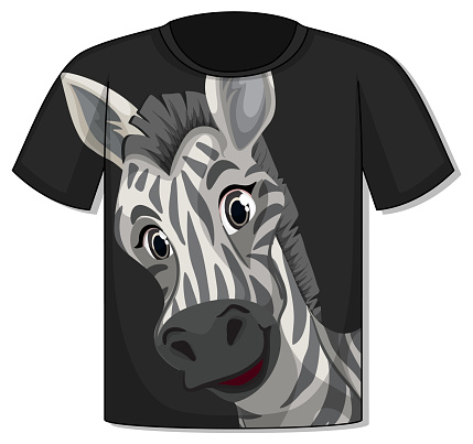 Front of t-shirt with zebra template