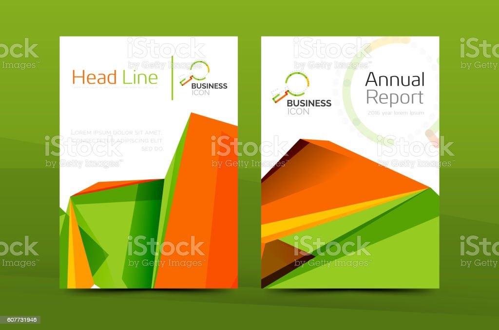 A4 Front Page Business Annual Report Cover stock vector art