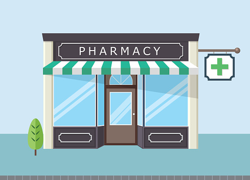 Front pharmacy store