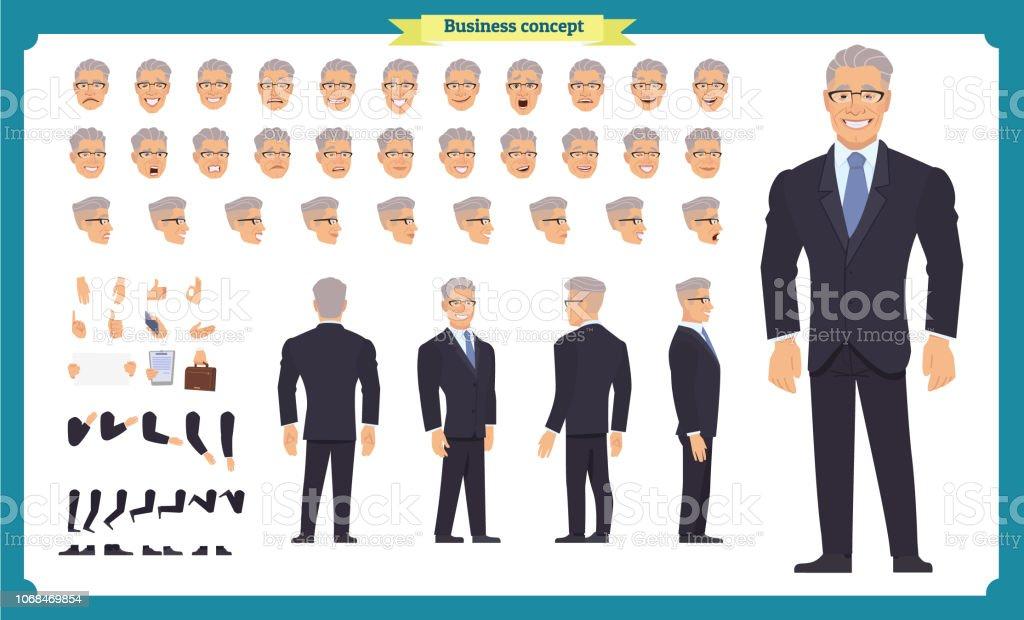 Front Seite Rückansicht Animierte Charakter