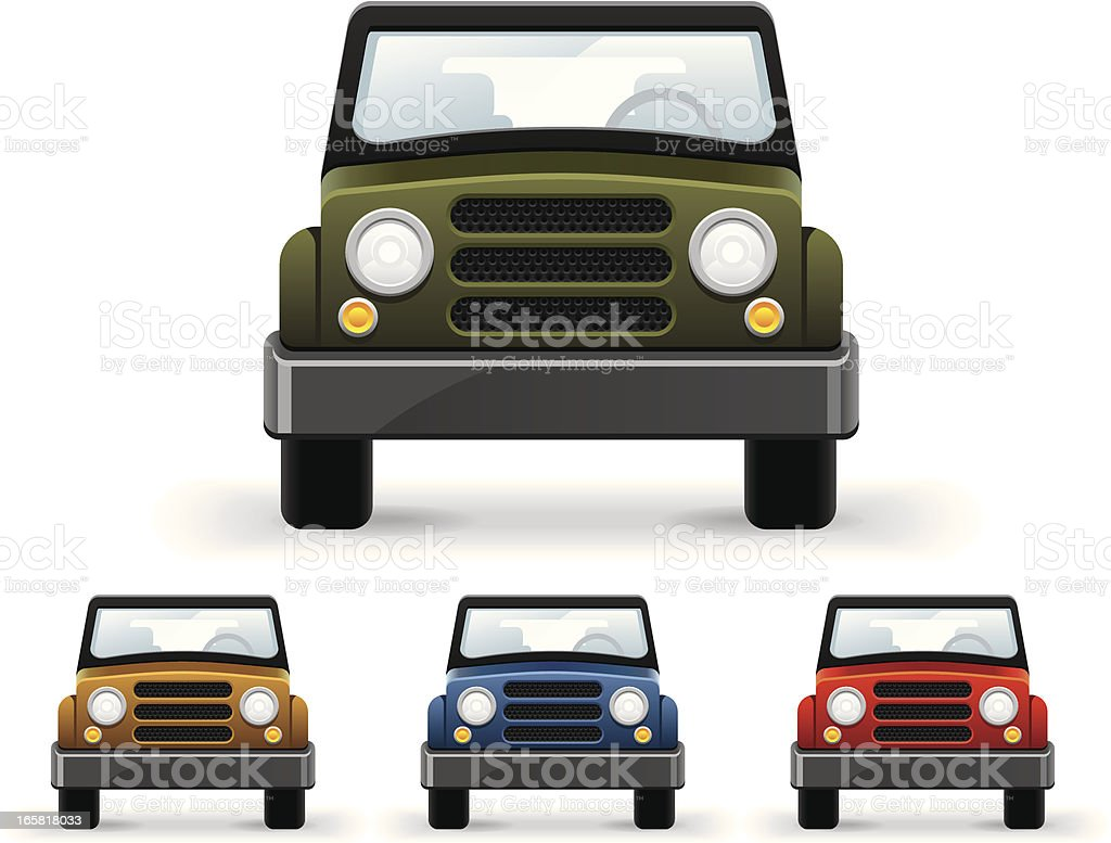 Front view car royalty-free stock vector art