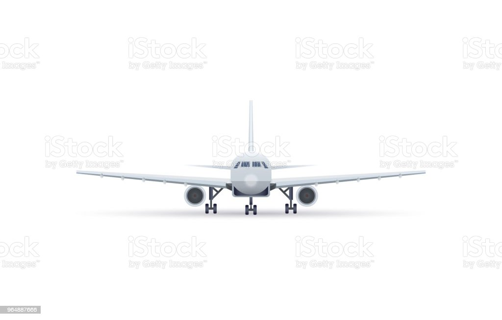 Front view jet airplane isolated vector icon royalty-free front view jet airplane isolated vector icon stock vector art & more images of air vehicle