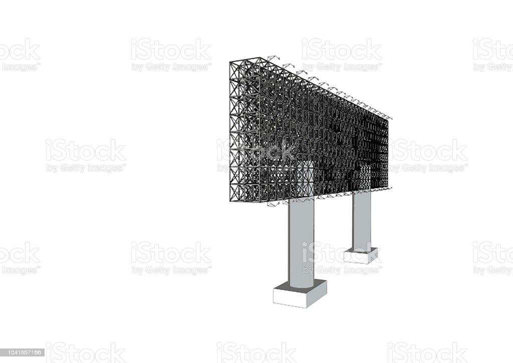 Vue De Face De Publicité Blanche Anglosaxon Structure