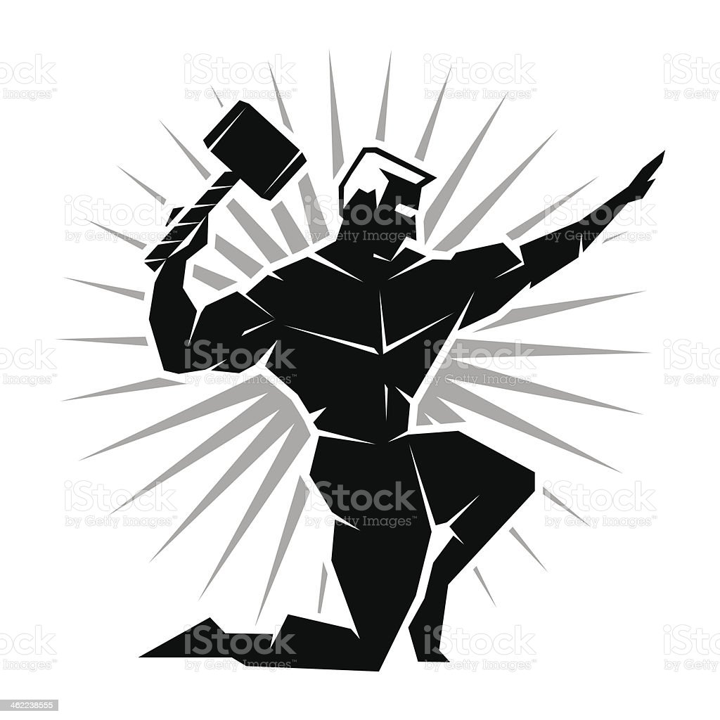 front view of greek god thor stock vector art 462238555 istock