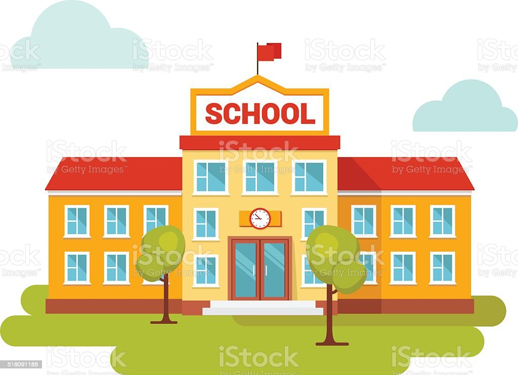 royalty free schoolhouse clip art vector images illustrations rh istockphoto com school clipart images school clipart free download