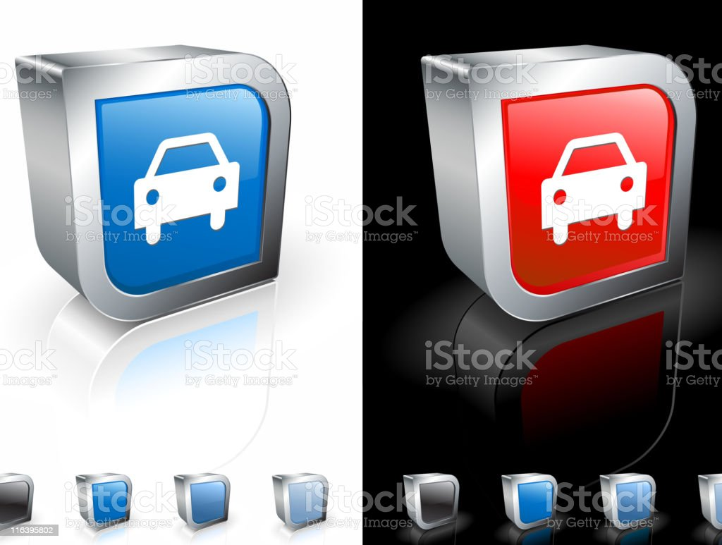 Frontal view of a car square icon royalty-free stock vector art